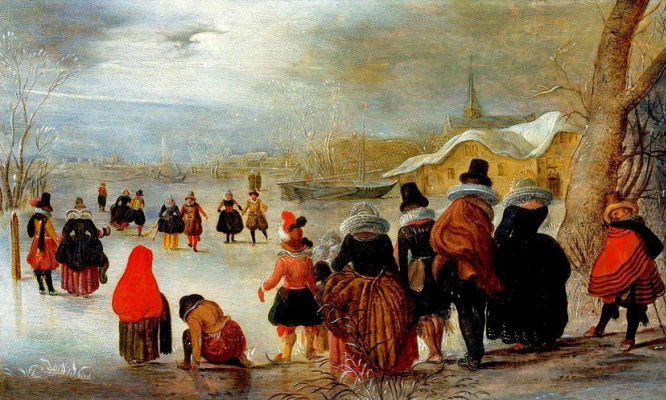 Адам ван Брин. Снежный пейзаж