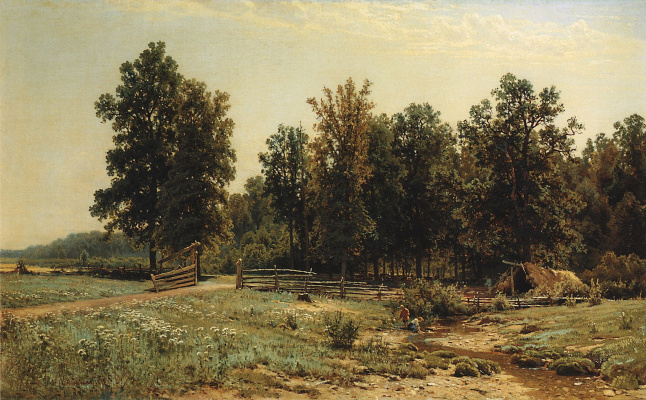 Ivan Ivanovich Shishkin. On the outskirts of oak forest