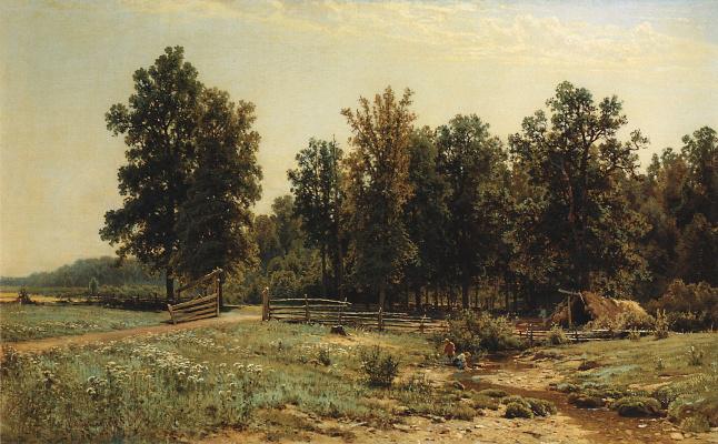 Ivan Ivanovich Shishkin. On the outskirts of oak forest