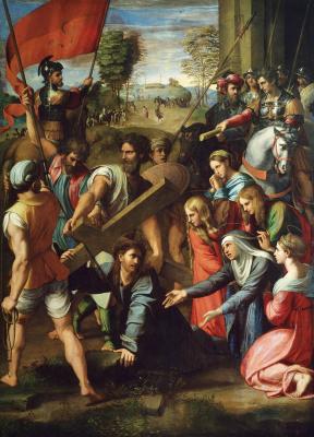 Рафаэль Санти. Падение Иисуса на пути к Голгофе