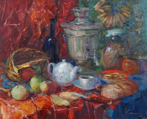 Valerij Ivanovich Sosna. Still Life With Samovar