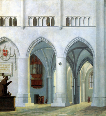Питер Янсон Санредам. Интерьер церкви Святого Бавона в Хаарлеме