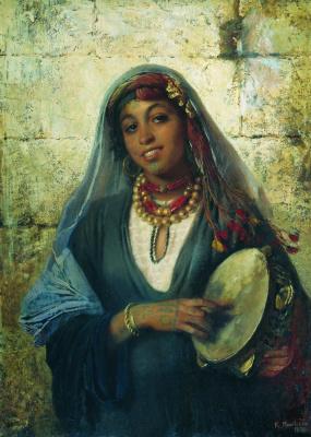Konstantin Makovsky. Eastern woman (gypsy)