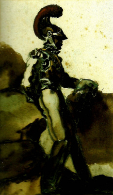 Théodore Géricault. Officer among the rocks