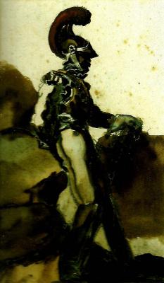 Théodore Géricault. Officer among the rocks