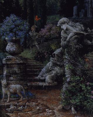 James Christensen. Lovely old garden