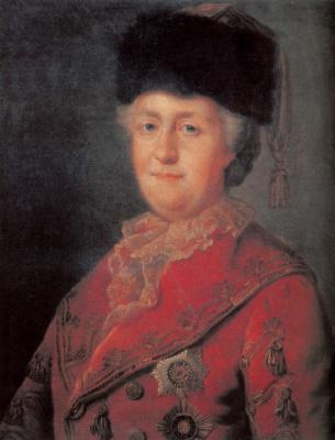Михаил Шибанов. Портрет Екатерины II в дорожном костюме