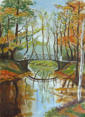 Anna Akchurina. The bridge in the park