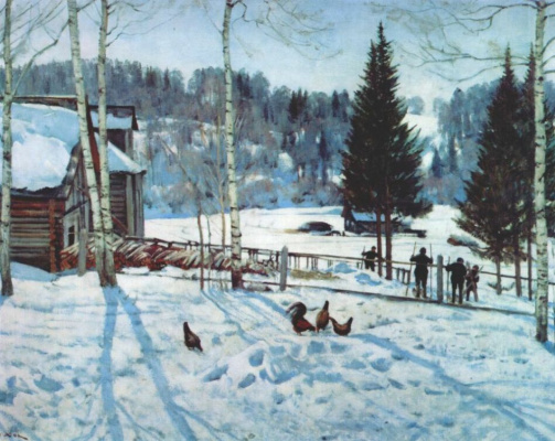 Константин Федорович Юон. Конец зимы