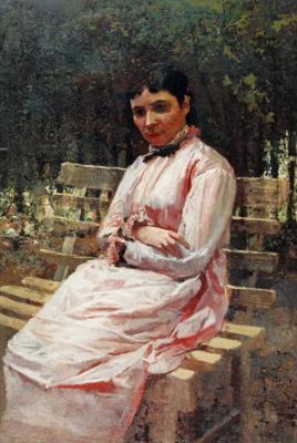 Николай Александрович Ярошенко. В парке. Портрет С. Р. Левицкой