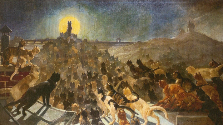 Theophile-Alexander Steinlen. The apotheosis of the cats
