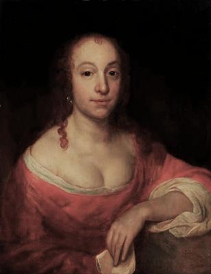 Самюэл ван Хогстратен. Портрет женщины в красном платье