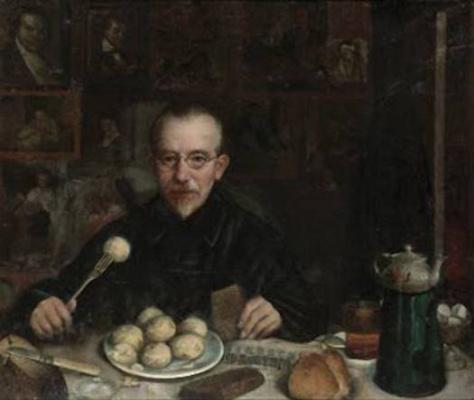Yudel Pen. Breakfast (Self-Portrait)