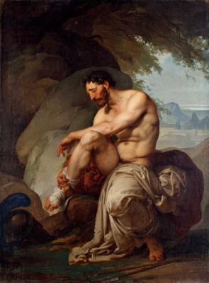 Francesco Ayets. Wounded philoctet