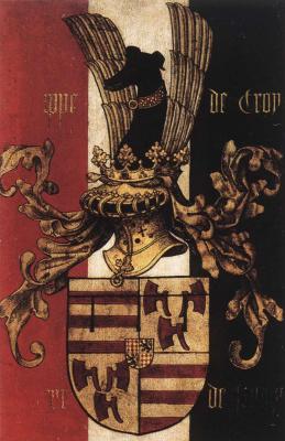 Рогир ван дер Вейден. Диптих Джоанны Французской. Фрагмент обратной стороны
