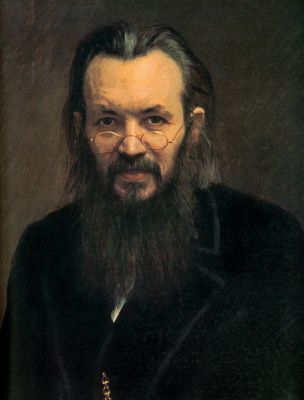 Ivan Nikolayevich Kramskoy. Portrait of a publisher and journalist Alexey Sergeevicha suvorina. Fragment