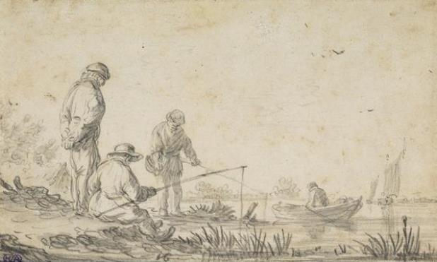 Jan van Goyen. Men go fishing on the shore