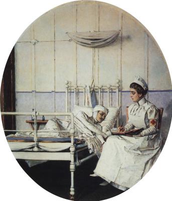 """Vasily Vasilyevich Vereshchagin. A letter home. Series """"Letter to mother"""""""