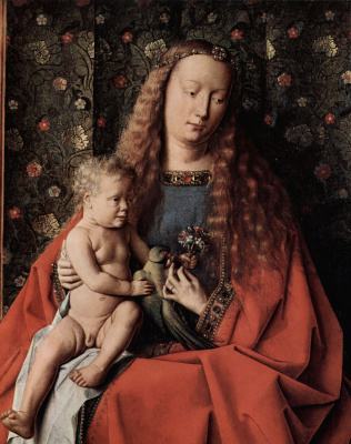 Jan van Eyck. Madonna of Canon Georg van der pale (fragment)