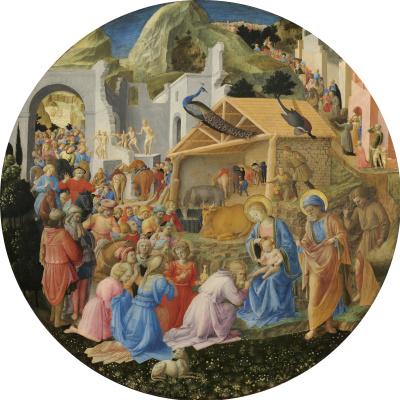 Fra Beato Angelico. Adoration of the Magi (with Fra Filippo Lippi)
