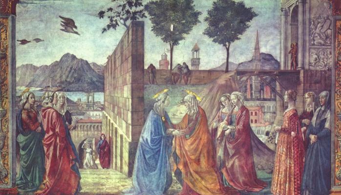 Доменико Гирландайо. Встреча Марии и Елизаветы
