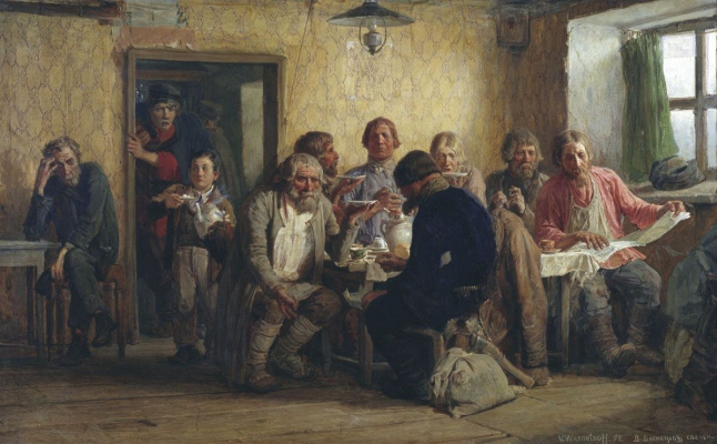 Viktor Mikhailovich Vasnetsov. Tea party in the tavern (In the tavern)