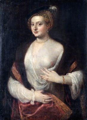 Тициан Вечеллио. Портрет неизвестной (Возлюбленная)