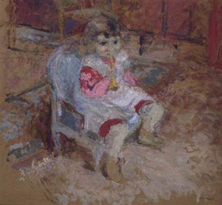 Жан Эдуар Вюйар. Малышка с дудочкой