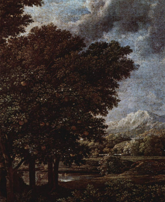 "Nicola Poussin. Series of paintings ""the seasons"". Spring, fragment"