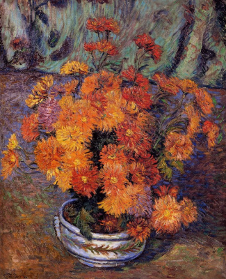Arman Guillaume. Vase with chrysanthemums