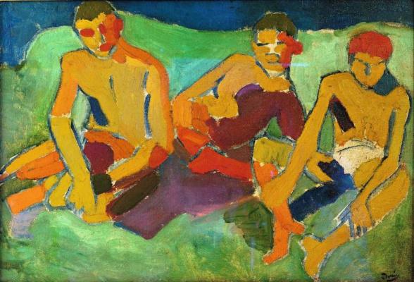 Andre Derain. Trois personnages assis sur l'herbe