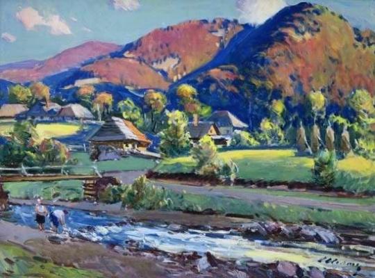 Золтан Иванович Шолтес. Село в горах