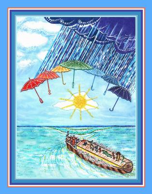 Людмила Викторовна Максимчук. К детскому циклу «Праздник».  «Для чего этот дождь? Потоп», 2004