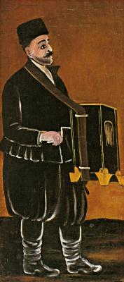 Niko Pirosmani (Pirosmanashvili). The organ grinder
