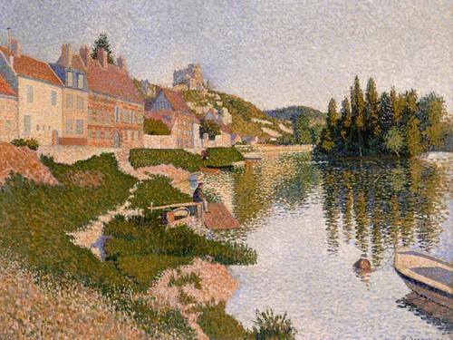 Paul Signac. Riverbank, Les Andelys