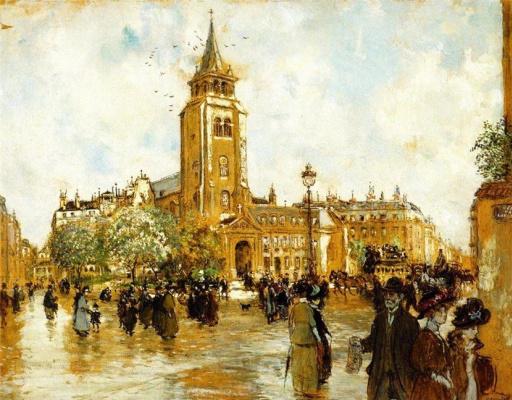 Жан-Франсуа Рафаэлли. Площадь Сен-Жермен-де-Пре