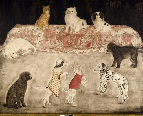 Цугухару Фудзита ( Леонар Фужита ). Ученые собаки