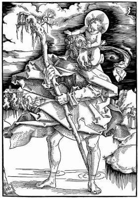 Hans Baldung. Saint Christopher