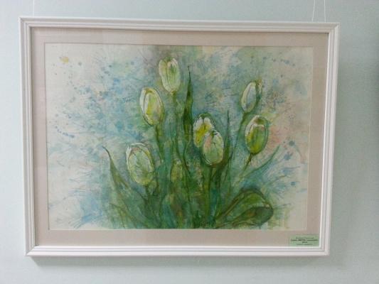 "Natalia Gennadievna Torlopova. Tulips. A series of ""Spring flowers"""