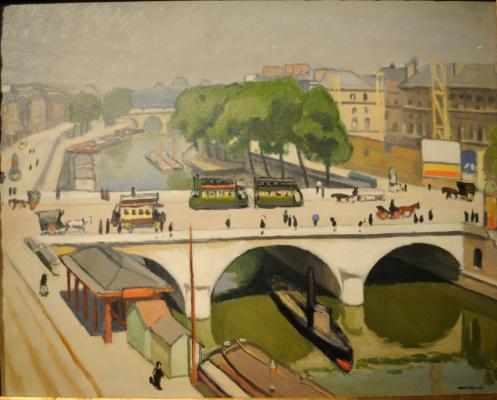 Albert Marquet. The bridge Saint-Michel in Paris.