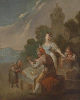 Johann Georg Platzer. A lesson in the fresh air