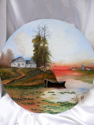 Сергей Николаевич Ходоренко-Затонский. Painting with clock