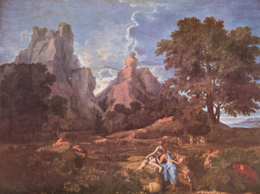 Nicola Poussin. Landscape with Polifemo