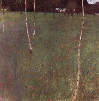 Густав Климт. Крестьянский дом с березами