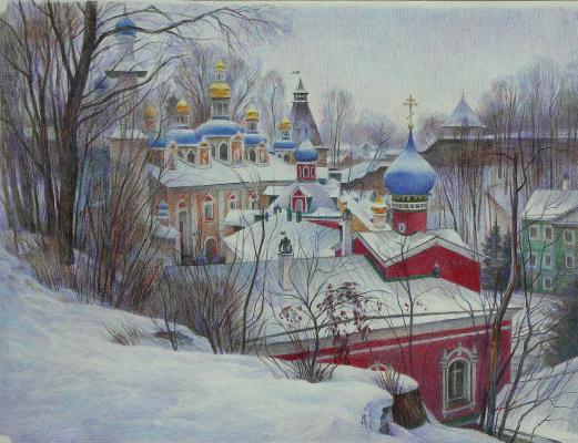 Oleg Borisovich Zakharov. The January pattern. ( Pechory ) unfinished.