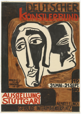 Karl Schmidt-Rottluff. Poster exhibition of the Union of artists of Germany in Stuttgart