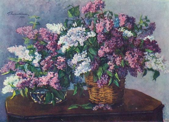 Petr Petrovich Konchalovsky. Lilacs in the basket