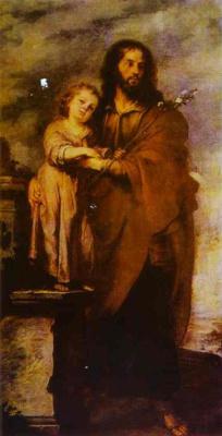 Бартоломе Эстебан Мурильо. Иосиф с младенцем Христом
