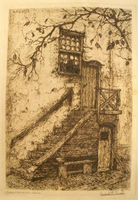 Anton Peak. Old stairs in Montfort