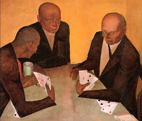 Nikolay Petrovich Glushchenko. The card players